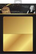 Sara Signature Black and Gold Luxury Mirror Card, Paper, Multi-Colour, 1.2 x 21.7 x 31.9 cm