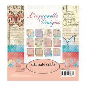 """Ultimate Crafts Aquarelle 6 x 6"""" Pad, Paper, Multicoloured, 16.4 x 16.4 x 0.6 cm"""
