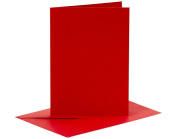 6 Red A6 Cards and Envelopes - Card Making Crafts | Card Making Blanks