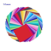 50x Wicemoon 50 Vivid Colours Single Sided Origami Paper for Arts and Crafts Projects