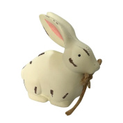 YJYdada Wooden Bunny Happy Easter Cute Rabbit Party Decor Ornaments Children's Toy Gift