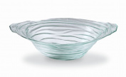 Mud Pie Beach House Large Blue Tinted Spanish Glass Decorative Bowl