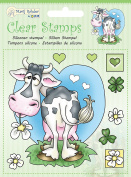 JEJE Clear Stamps Cow, Synthetic Material, 14.2 x 11 x 0.3 cm