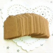 Bodhi2000 100pcs Kraft Paper Gift Tags Rectangular Hang Tags for Gifts Crafts Price Tags