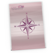 CraftStar Nautical Compass Rose Stencil - Reuseable Craft, Home Decor Stencil