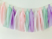 16 X Tissue Paper Tassels for Party Wedding Gold Garland Bunting Pom Pom