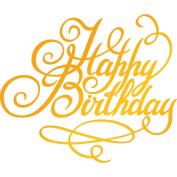 Ultimate Crafts Happy Birthday Hotfoil Stamp, Metal, Grey, 22.8 x 9.8 x 0.7 cm