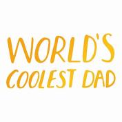 Ultimate Crafts Coolest Dad Hot Foil Stamp, Metal, Grey, 22.8 x 9.9 x 0.6 cm