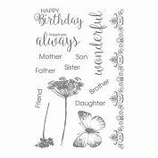 Ultimate Crafts Happiness Clear Stamp Set, Synthetic Material, 17.8 x 11.2 x 0.4 cm