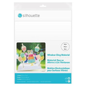 Silhouette Inkjet Printable Window Cling Material - White, 5 sheets