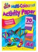 Art Box Paper Pad with 70 Sheets - Assorted Colours