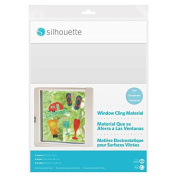 Silhouette Inkjet Printable Window Cling Material - Clear, 5 sheets
