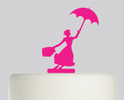 Mary Poppins - Acrylic Cake Topper - Pink Acrylic