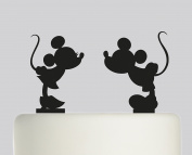 Mickey mouse and Minnie Mouse individual cake toppers - Acrylic Cake Topper - Black Acrylic