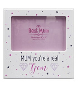 Mum Your A Real Gem White Mother Day Birthday Photo Frame For A 10cm x 15cm Photo