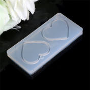 Hacloser Silicone Mould Flower Leaves Heart Shape DIY Resin Jewellery Pendant Making Craft Tools
