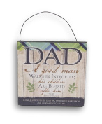 Trendy Fathers Day Provers 20:7 Decor Sign or Plaque - 5 x 5