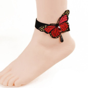 Butterfly Beach seaside foot ring accessories section- Butterfly Ankle Ring Foot Sandal Beach Wedding Ankle Bracelet Women Girls Anklet Bracelet