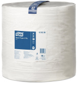 Tork 129239 Basic Paper 2 Ply / Absorbent, Recycled Paper Roll Suitable for Tork W1 Wipers Wall/Floor/Standard System / White / 1 x 680m / Ø 38.5cm