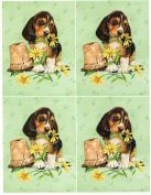 1 sheet dogs theme decoupage sheets, ideal for arts and crafts, card, invitations, framing, dolls houses and lots more etc
