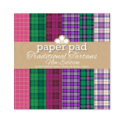 """Craftwork Cards """"Traditional Tartan"""" Patterned Paper Pad, Red, 20cm x 20cm"""