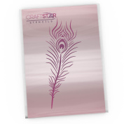 CraftStar Peacock Feather Stencil - Craft, Home Decor Stencil