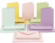 50 Pastel A6 Cards and Envelopes - Card Making Crafts | Card Making Blanks