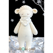 Barbra The Softie, hand crochet toy, soft plush toy, safe gift for new born babies and children, even infants, bedtime toy for kids, designed by Bobi Craft.