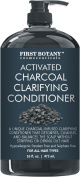 Activated Charcoal Professional Hair Conditioner for Men and Women 470ml - Sulphate Free - Volumizing & Moisturising, Gentle on Curly & Colour Treated Hair. Infused with Keratin.