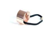 Rose Gold Metal Circle Ring Hair Cuff Wrap Ponytail Holder Band Accessories