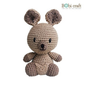 Mini Karu, hand crochet toy, soft plush toy, safe gift for new born babies and children, even infants, bedtime toy for kids, designed by Bobi Craft.