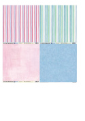 CREATIVE BACKING PAPERS, 12 SHEETS, 15cm X 15cm , 120GSM, 'PAINTED STRIPE', by Craft Creations