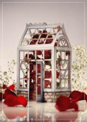 Luxury Love roses greenhouse romance valentines Birthday 3D 2 in 1 card, UNIQUE UNUSUAL