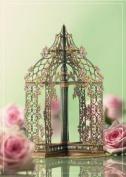 Luxury flower pavillion Birthday 3D 2 in 1 card, UNIQUE UNUSUAL