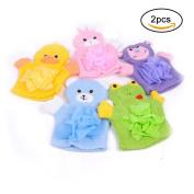 Cute Animal Bath Glove Puppet Style Soft Baby Bathing Glove Sponge - Random Delivery