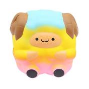 Squishies, ADESHOP Slow Rising Squishy Toy JGalaxy Rainbow Alpaca Cream Scented Squishy Toys for Boys and Girls