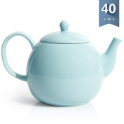 Sweese Porcelain Teapot, 1180ml Tea Pot - Large Enough for 5 Cups, Turquoise