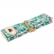 YJYdada Vintage Flower Floral Pencil Pen Case Bag Cosmetic Makeup Storage Bag Purse