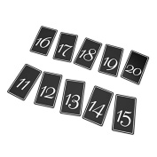 Black Table Card Numbers 11-20, 10ct