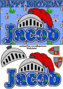 Birthday Knight A5 Name Card Jacob by Kelly Barker