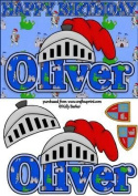 Birthday Knight A5 Name Card Oliver by Kelly Barker