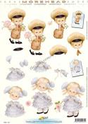 Morehead 3d Decoupage Sheet - A Boy & Girl Dressed In Victorian Fashion