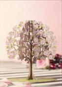 Luxury Birthday PINK TREE flower bouquet 3D 2 in 1 CARD, UNIQUE UNUSUAL