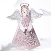 Luxury Pink Angel CHRISTMAS 3D 2 in 1 card, christmas, UNIQUE UNUSUAL