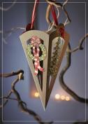 Luxury WREATH CHRISTMAS CONE 3D 2 in 1 card, christmas, UNIQUE UNUSUAL