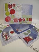 Grotto Card Die-cut Christmas Santa Theme 2pc Pk Cardmaking Arts & Crafts AM427