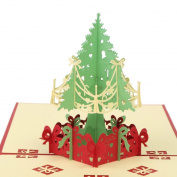 Crazy lin Merry Christmas Tree Xmas Greeting Cards Christmas Gifts Card
