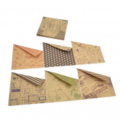 YNuth 60 Pc Retro Style Double-Sided Origami Kraft Paper 10 Kinds of Patterns