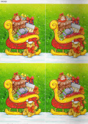 1 sheet sleigh theme decoupage sheets, ideal for arts and crafts, card, invitations, framing, dolls houses and lots more etc