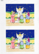 1 sheet xmas scenes decoupage sheets, ideal for arts and crafts, card, invitations, framing, dolls houses and lots more etc